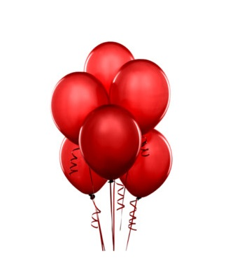 Raudoni balionai – Gėlių pristatymas Vilniuje