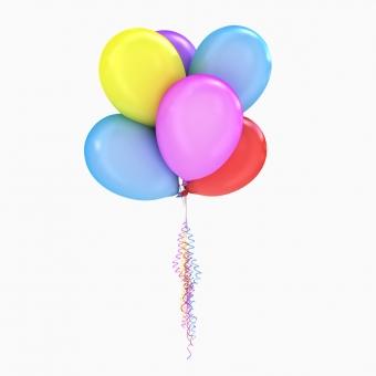 Bоздушные шары с гелием 5 шт.