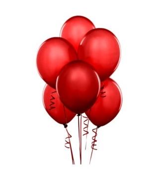 Красные шары с гелием 5 шт.
