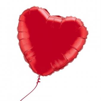 Balionas - širdis, su heliu (didelis)
