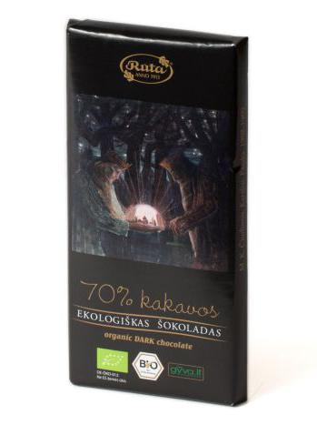 Ekologiškas juodasis šokoladas, 100 g 1