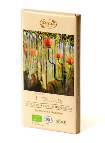 Ekologiškas pieninis šokoladas, 100 g 1