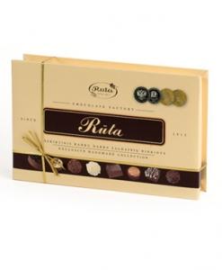 Rankų darbo šokoladinių saldainių rinkinys RŪTA, 170 g