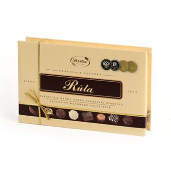 Rankų darbo šokoladinių saldainių rinkinys RŪTA, 170 g 1