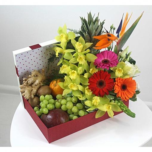 """Gėlių-vaisių puokštė """"Egzotika"""" 1"""