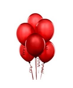 Raudoni balionai su heliu 5 vnt.