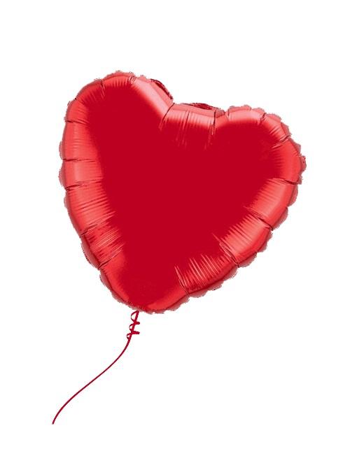 Воздушный шар — сердце, с гелием 1