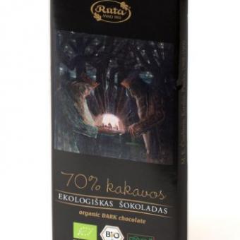 Ekologiškas juodasis šokoladas, 100 g